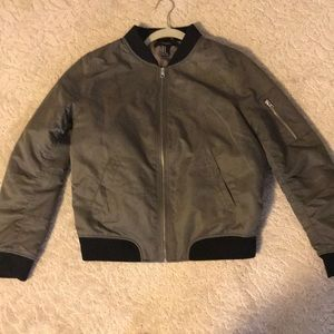 Forever 21 army green bomber